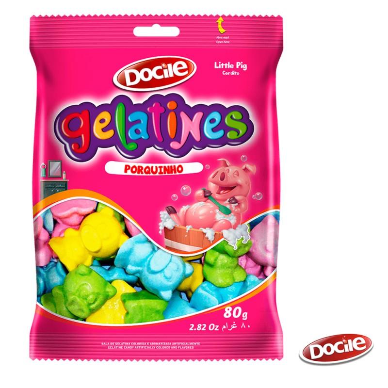 Gelatines Porquinho 80g • Docile