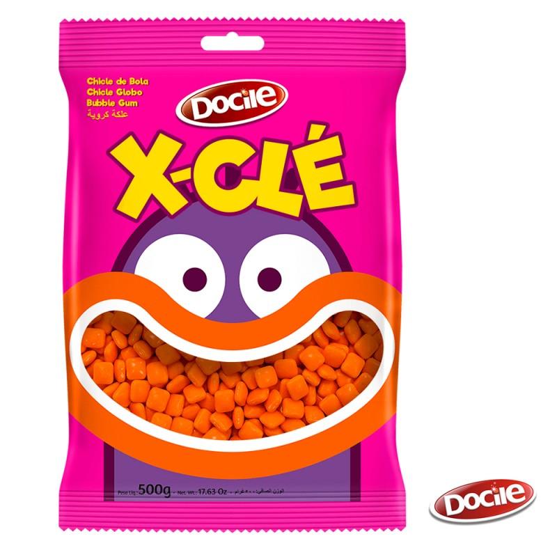 X-Clé • Mini Chiclé Laranja - Tutti-Frutti 500g • Docile
