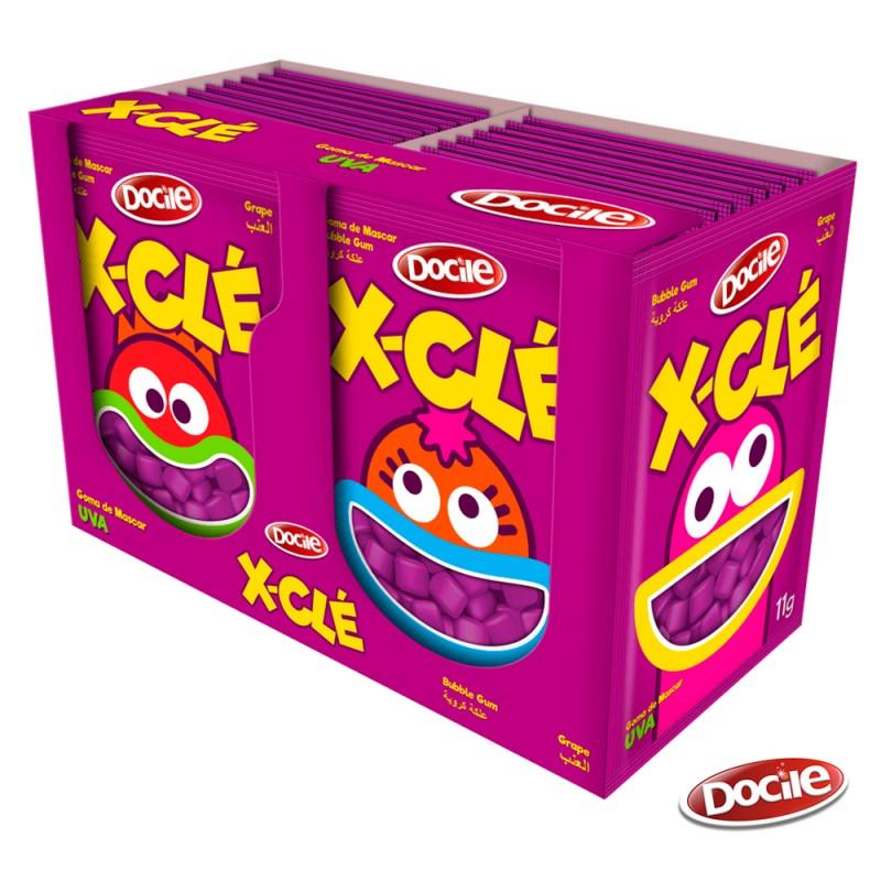X-Clé • Mini Chiclé • Uva • Caixa 164g • Docile