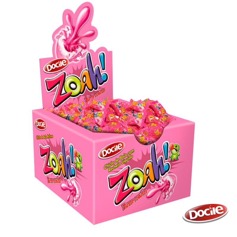 Zoah! Chicle Tutti-Frutti • Caixa c/ 40un. • DOCILE