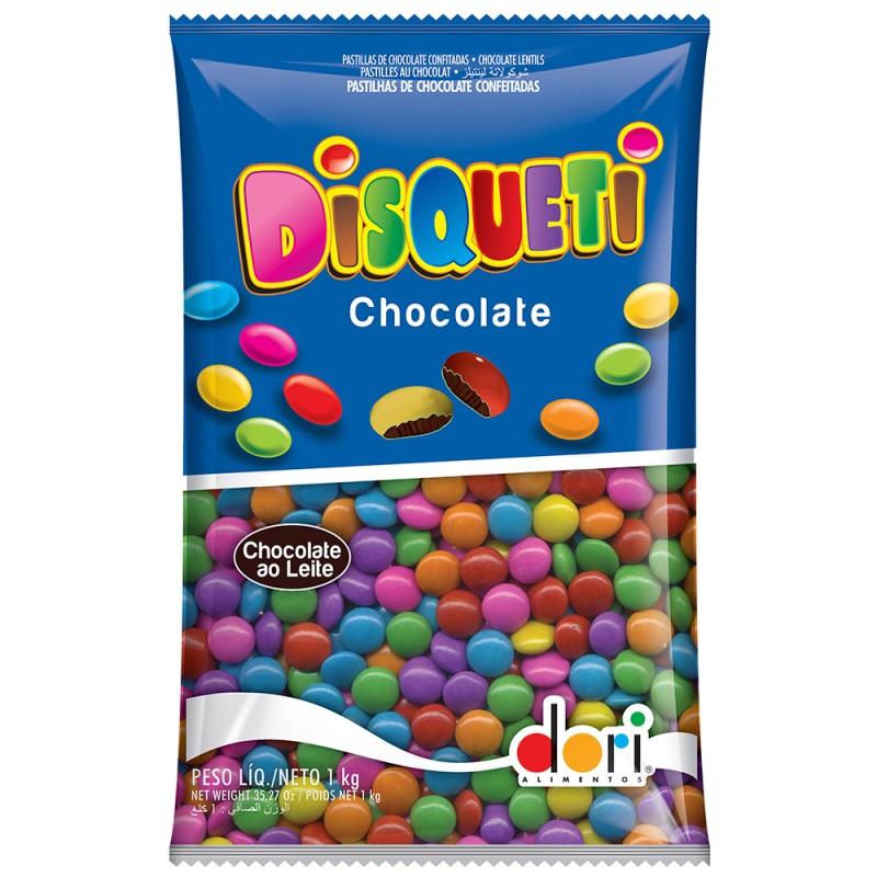 Disqueti Chocolate Colorido 1kg Dori