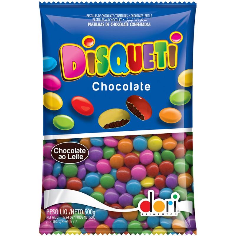 Disqueti Chocolate Colorido 500g Dori