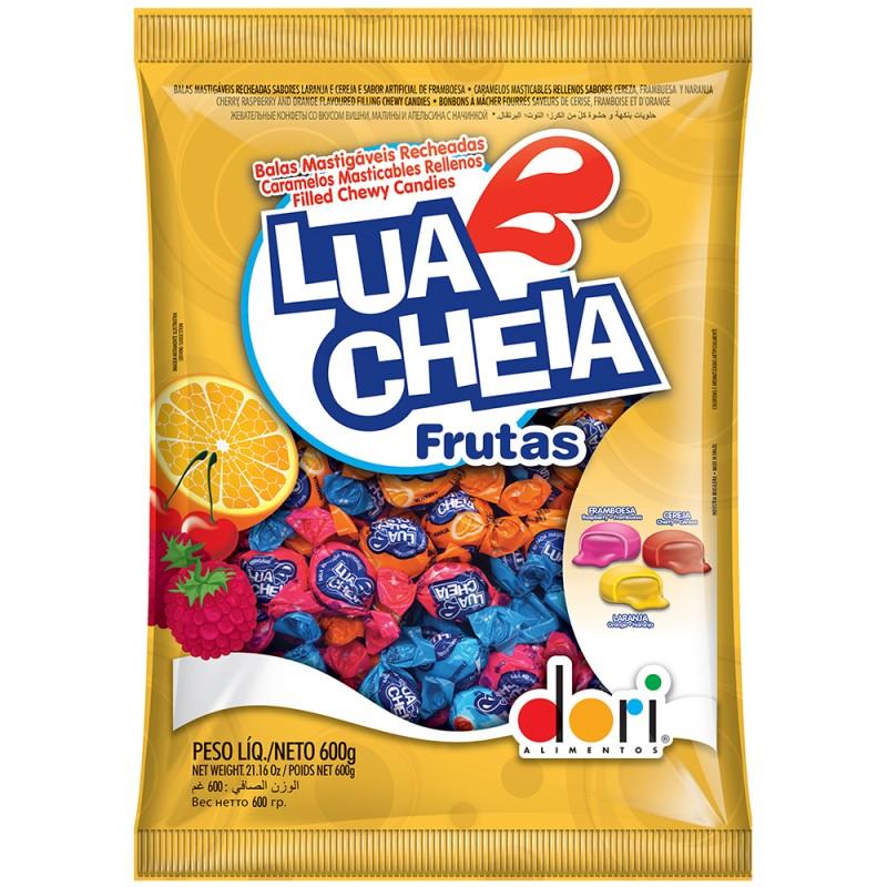 Bala Lua Cheia Frutas 600g • Dori