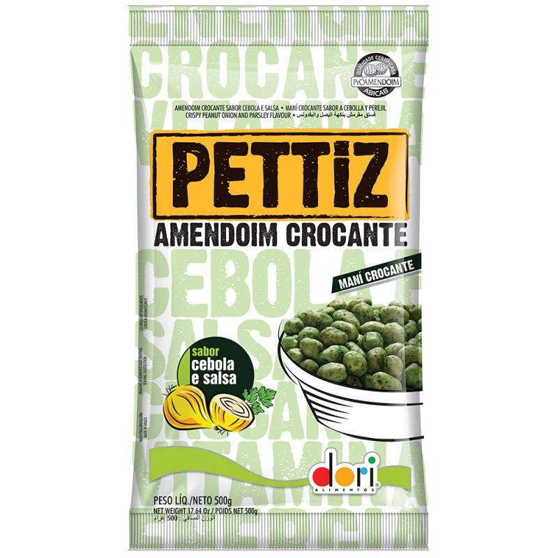 Amendoim Crocante Pettiz • Cebola e Salsa • 500g • Dori