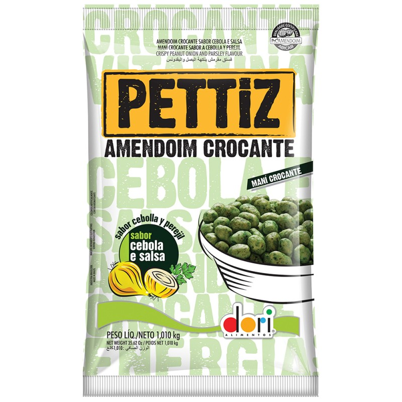Amendoim Crocante Pettiz • Cebola e Salsa 1kg • Dori