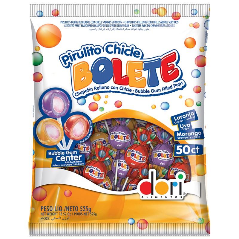Pirulito Chiclé Bolete Sortido • 525g • Dori