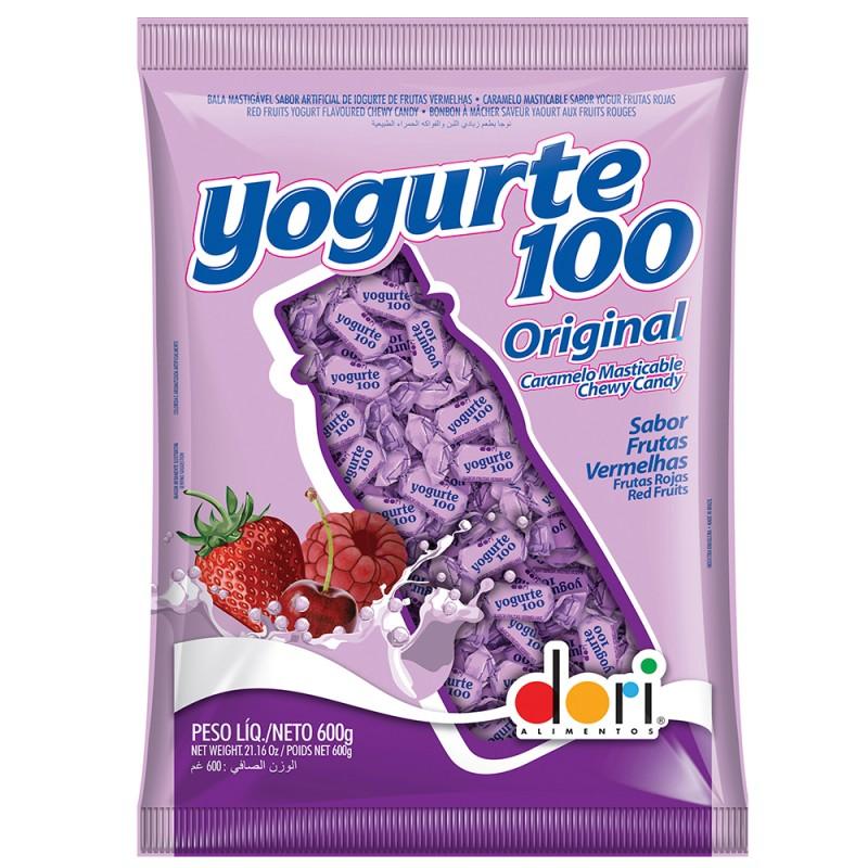 Bala Yogurte 100 Original Frutas Vermelhas 600g • DORI