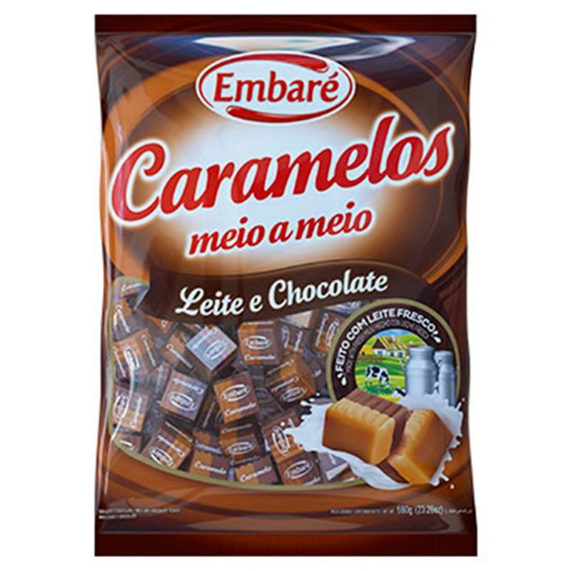 Caramelos de Leite •Diversos Sabores • 840g• Embaré