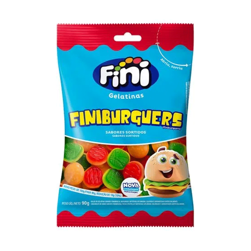 Bala Gelatina • Finiburguers 90g • Fini