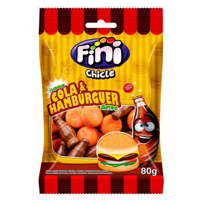 Chicle Ácido Cola & Hambúrguer • 80g • FINI