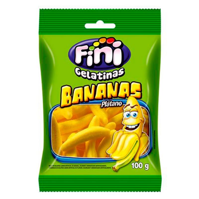 Bala Gelatina • Bananas 100g • Fini