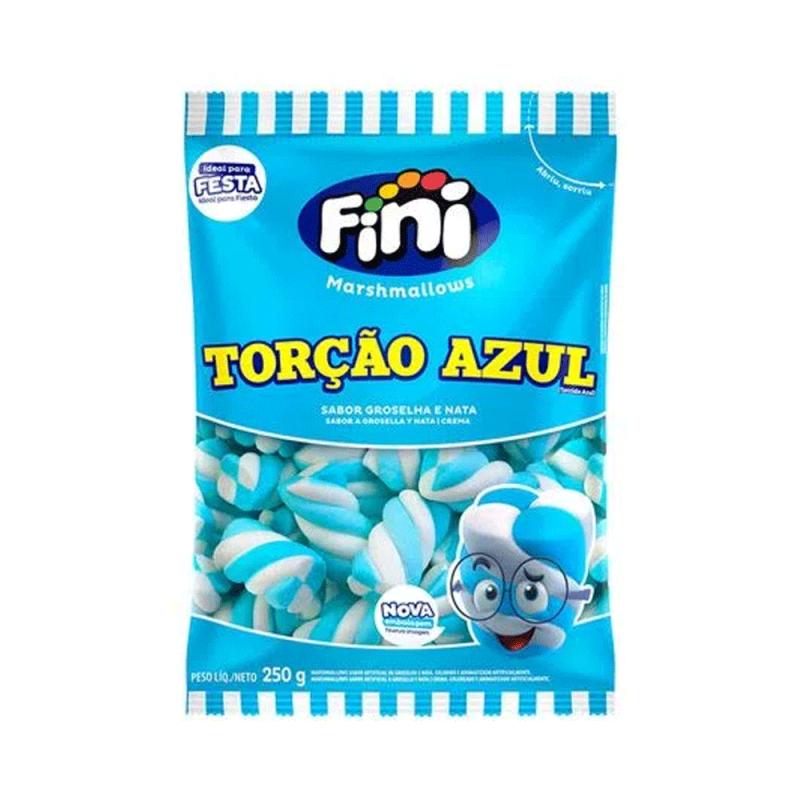 Marshmallows Torção Azul 250g • Fini