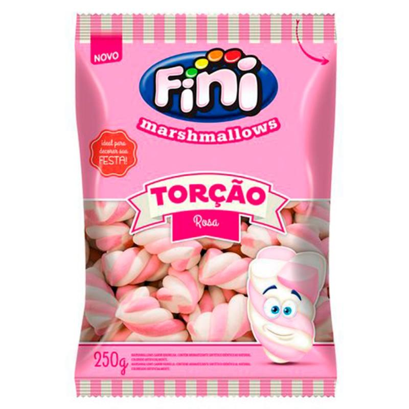 Marshmallows Torção Rosa • 250g • FINI