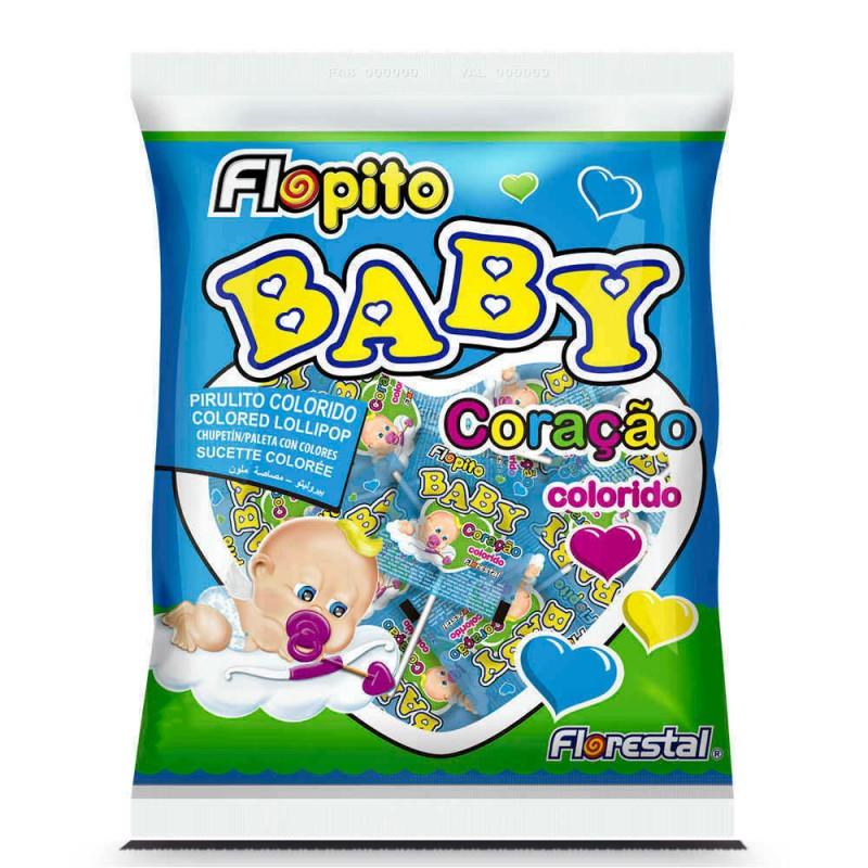 Pirulito Baby Coração • Colorido • 200g • Florestal