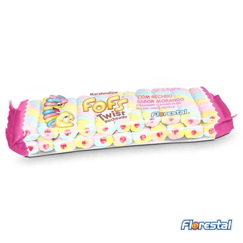 Marshmallow Fofs Twist Recheado 180g • 23un.• FLORESTAL