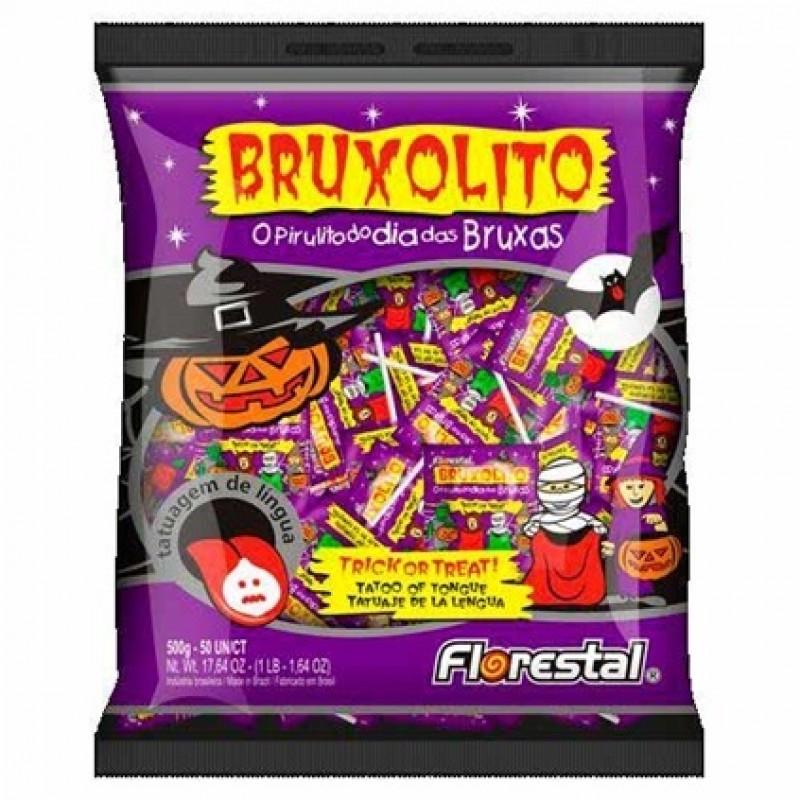Pirulito Bruxolito • Tatuagem de Língua • Sortidos • 500g • Florestal