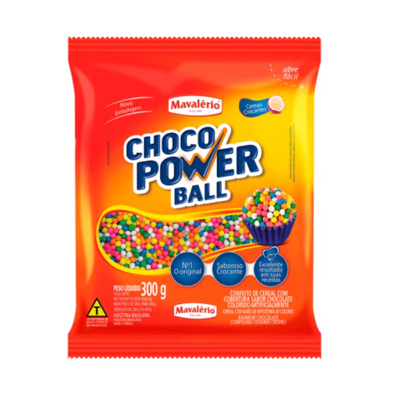 Choco Power Ball Micro Colorido • 300g • Mavalério