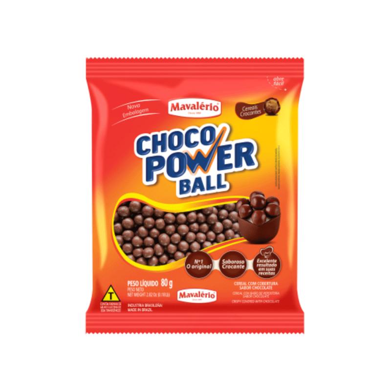 Choco Power Ball Sabor Chocolate • 80g • Mavalério