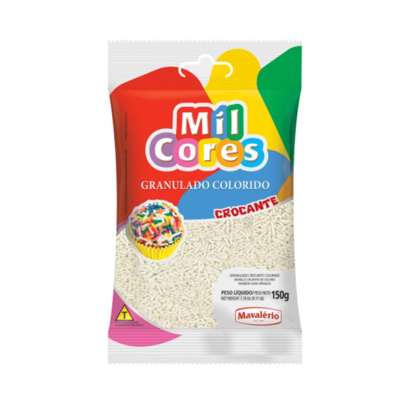 Granulado Branco Crocante 150g • Mil Cores