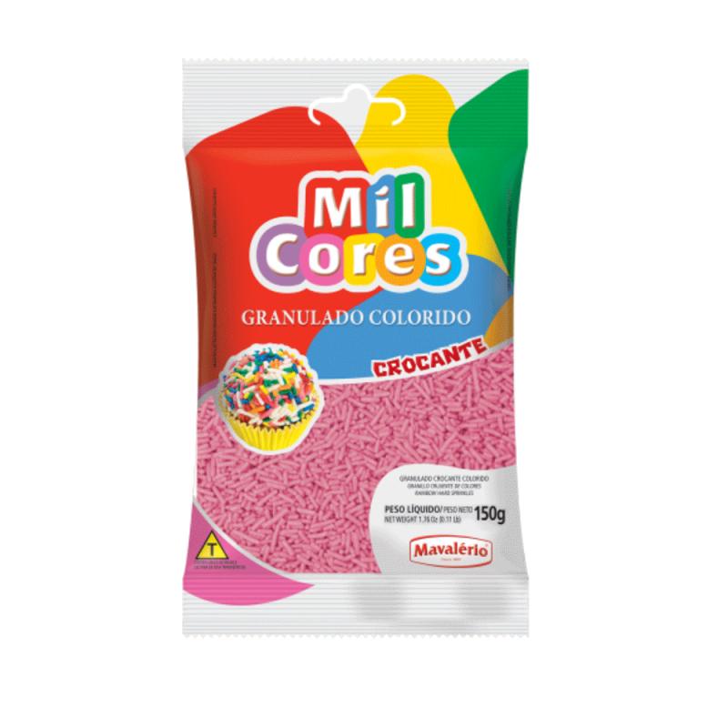 Granulado Rosa Crocante 150g • Mil Cores