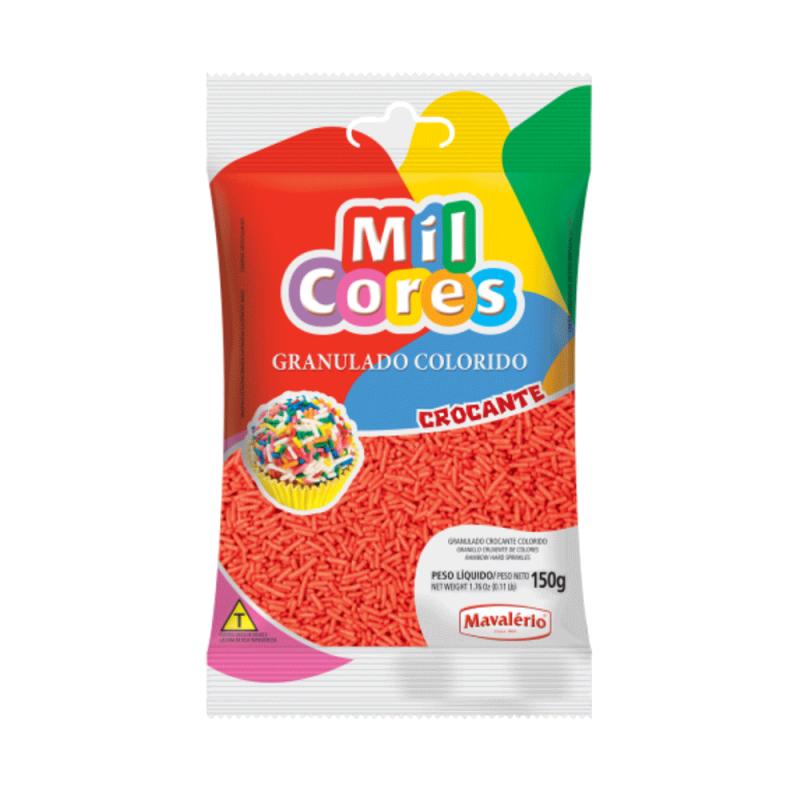 Granulado Vermelho Crocante 150g • Mil Cores