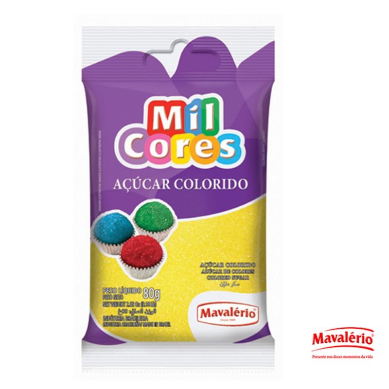 Açúcar Colorido • Amarelo • 80g • Mil Cores