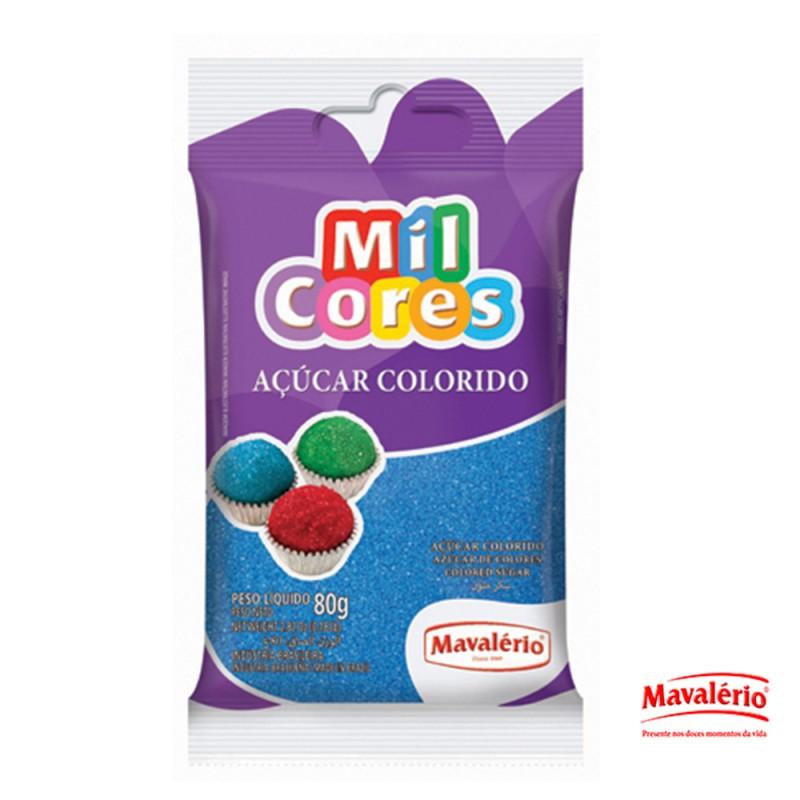 Açúcar Colorido • Azul • 80g • Mil Cores