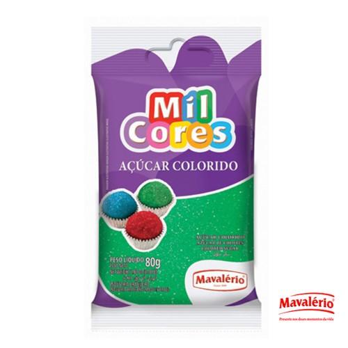 Açúcar Colorido Verde 80g Mil Cores
