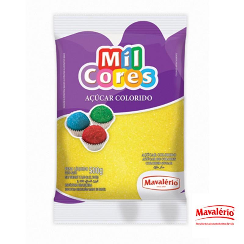 Açucar Colorido • Amarelo • 500g • Mil Cores