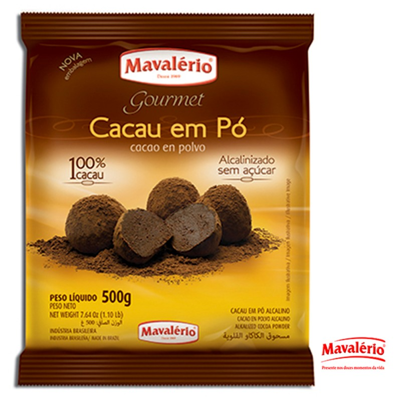 Chocolate em Pó Solúvel • 100% Cacau • 500g • Mavalério