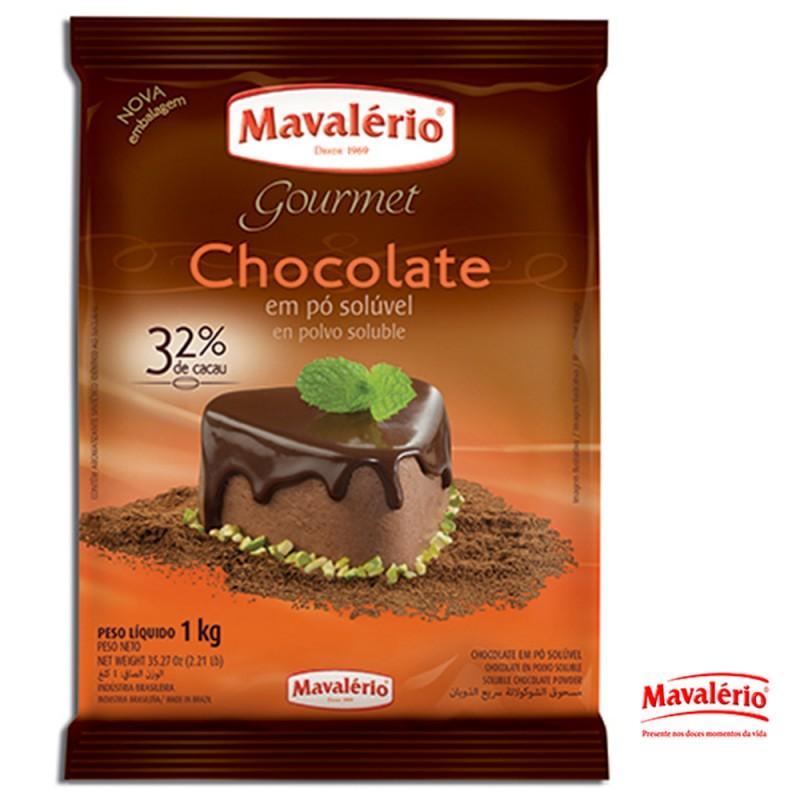 Chocolate em Pó Solúvel • 32% Cacau • 1kg • Mavalério