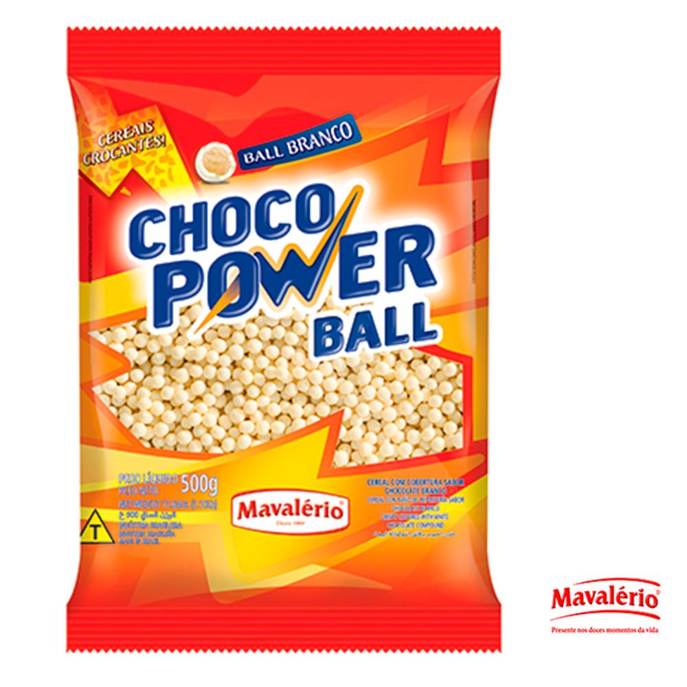 Choco Power Ball Branco 500g Mavalerio Silvano Festas