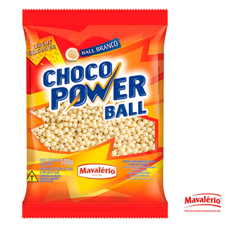 Choco Power Ball Branco • 500g • MAVALÉRIO