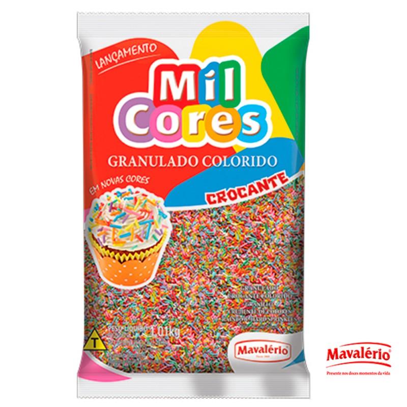 Granulado Crocante Colorido 1kg Mil Cores