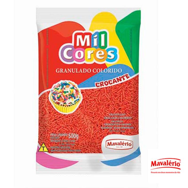 Granulado Vermelho Crocante 500g Mil Cores