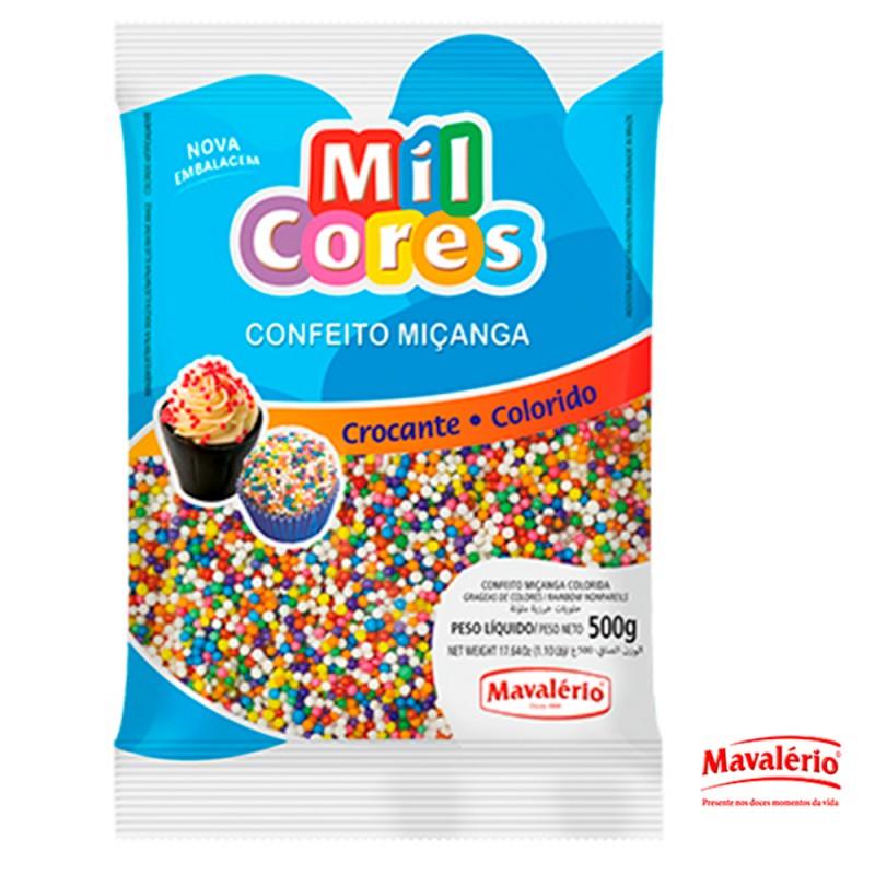 Confeito Miçanga Colorida 500g Mil Cores