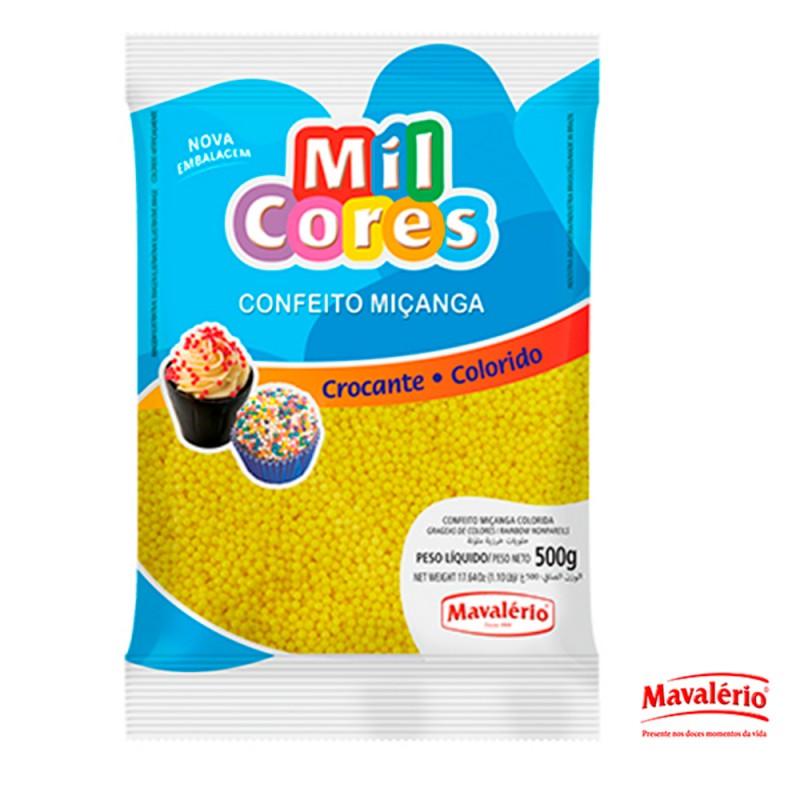 Confeito Miçanga • Diversas Cores • 500g