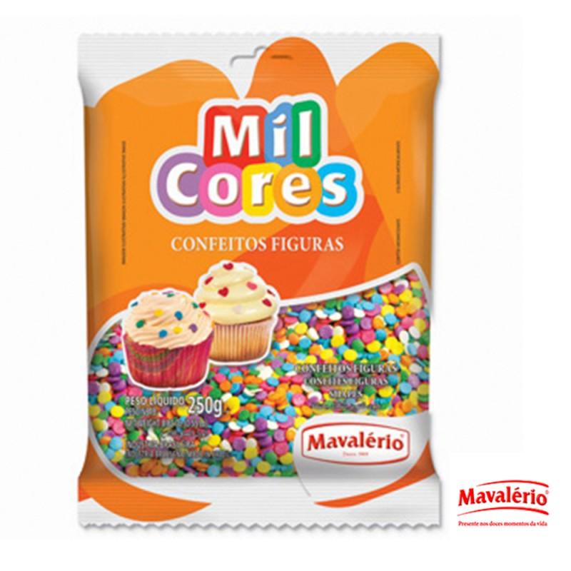 Confeito Figuras Confete 250g • Mil Cores