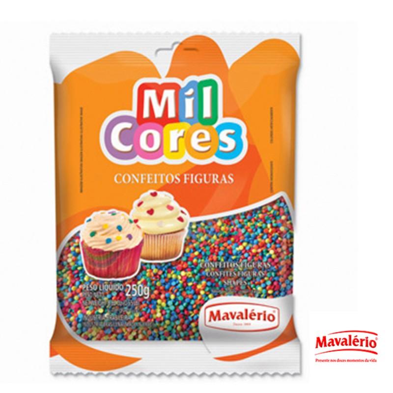 Confeito Figuras Mini Confetes 250g • Mil Cores