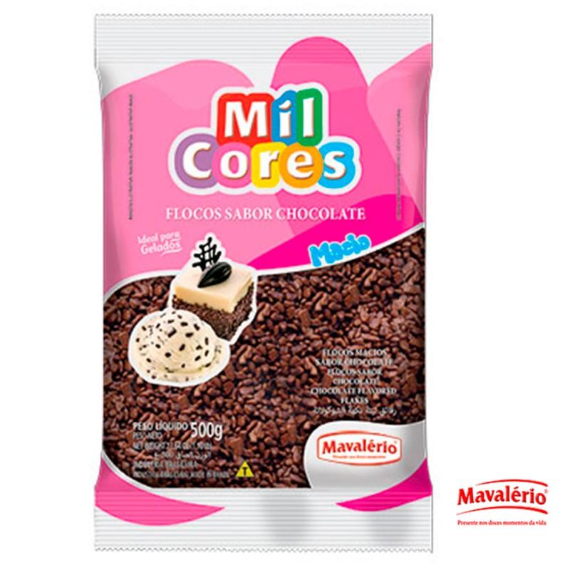 Flocos Sabor Chocolate Macio 500g • Mavalério