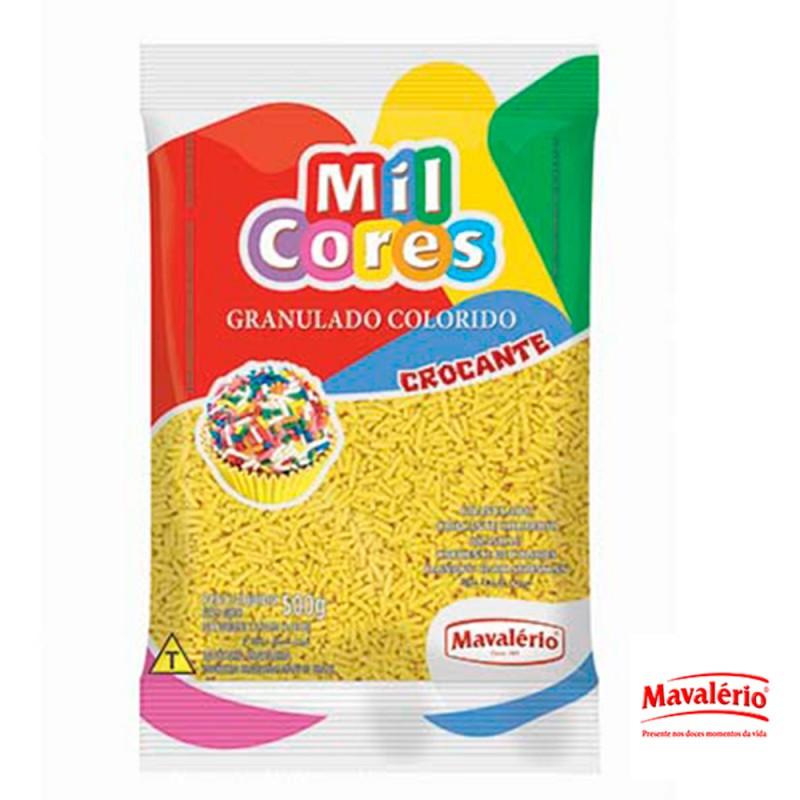 Granulado Amarelo Crocante 500g Mil Cores