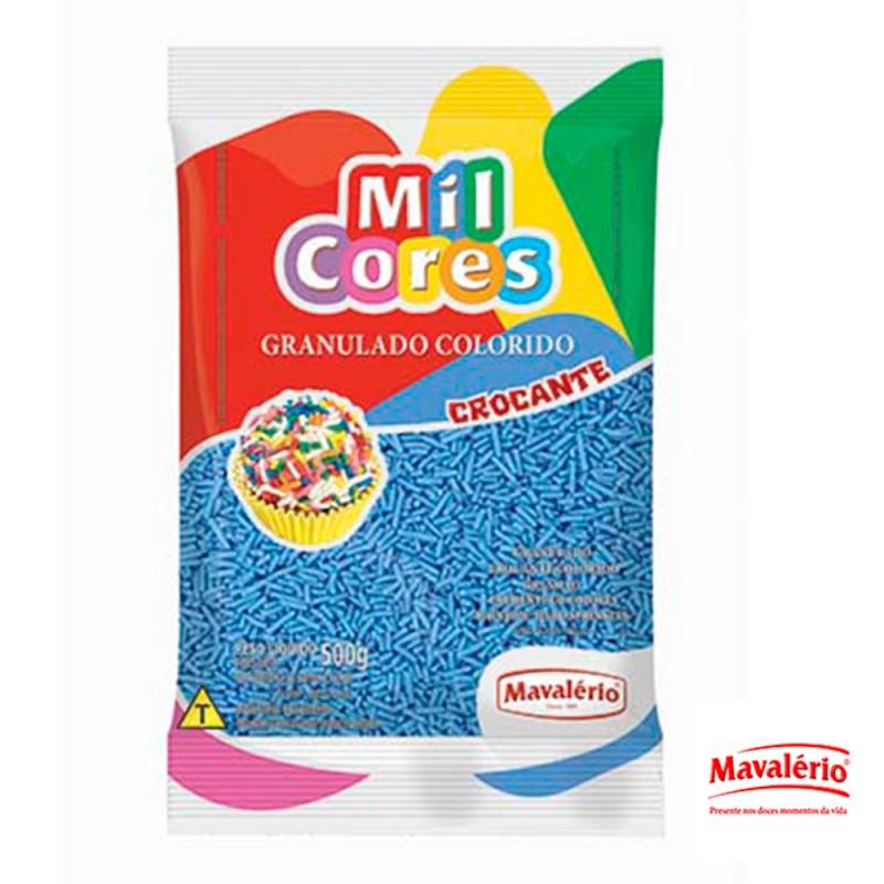 Granulado Azul Crocante 500g Mil Cores