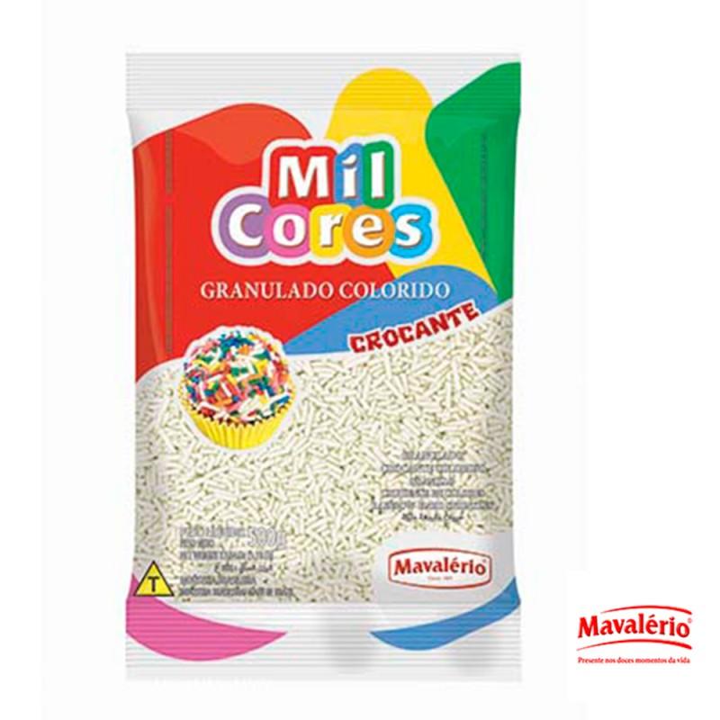 Granulado Branco Crocante 500g Mil Cores