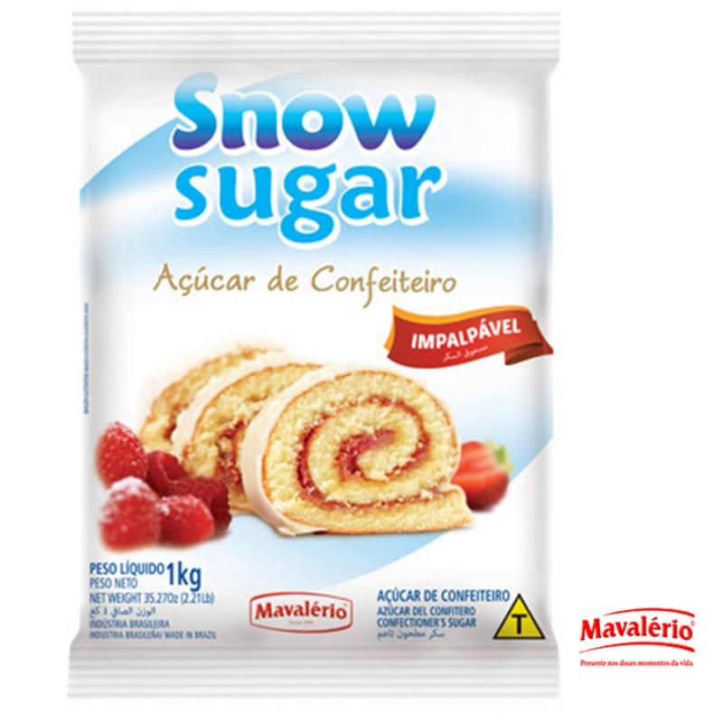 Açúcar de Confeiteiro Snow Sugar • 1kg • Mavalério