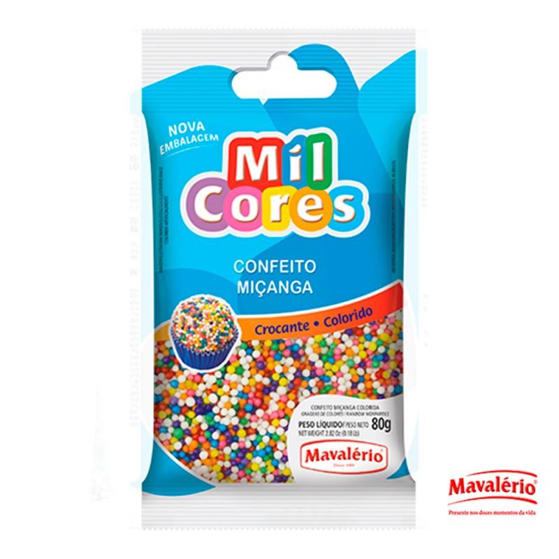 Confeito Miçanga Colorida 80g Mil Cores