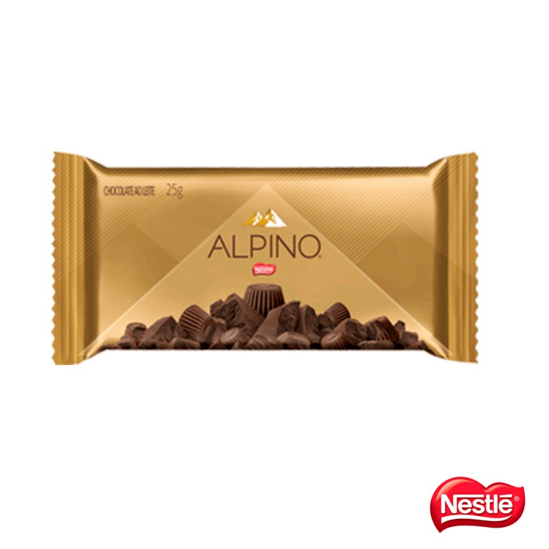 Chocolate • Alpino • Tablete • Cx. c/450g 18x25g - Nestlé
