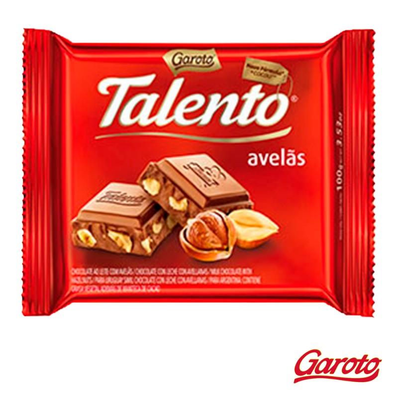Chocolate • Talento • Avelãs • Cx. c/15un-Garoto