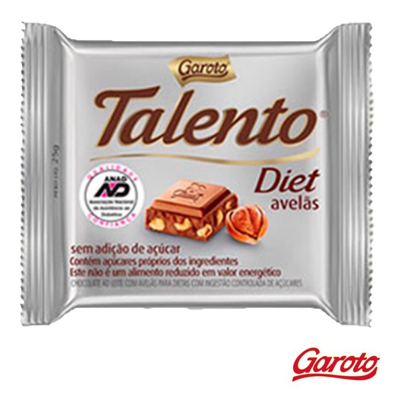 Chocolate • Talento Diet • Avelãs • Cx. c/15un-Garoto