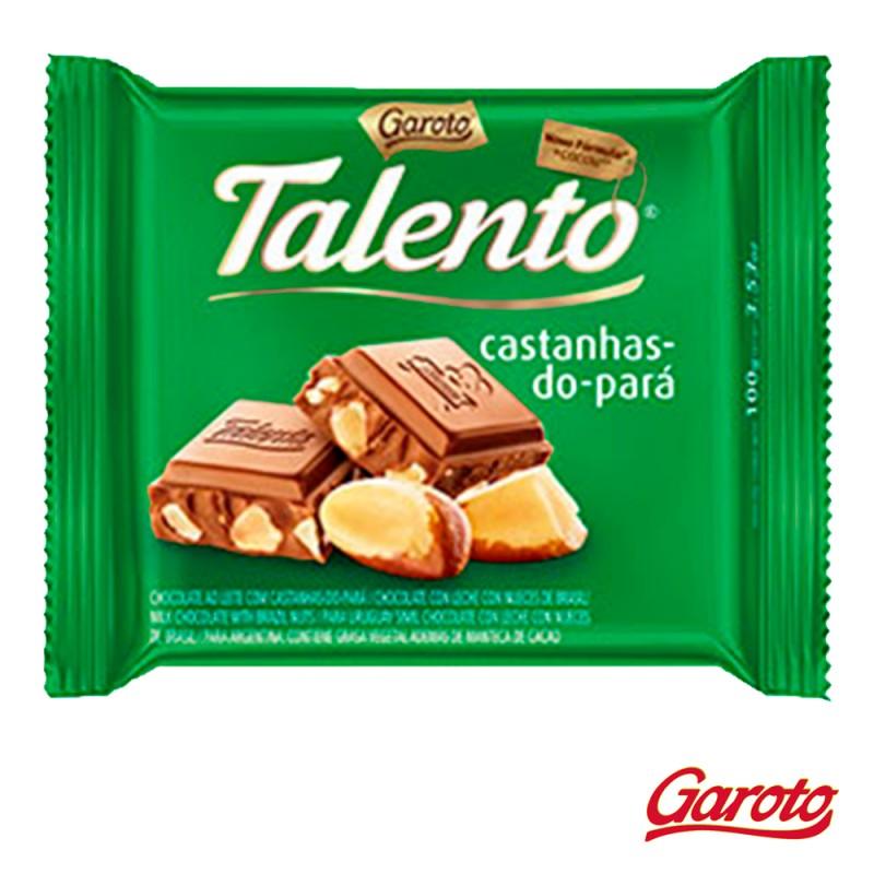 Chocolate • Talento • Castanhas-do-Pará • Cx. c/15un-Garoto