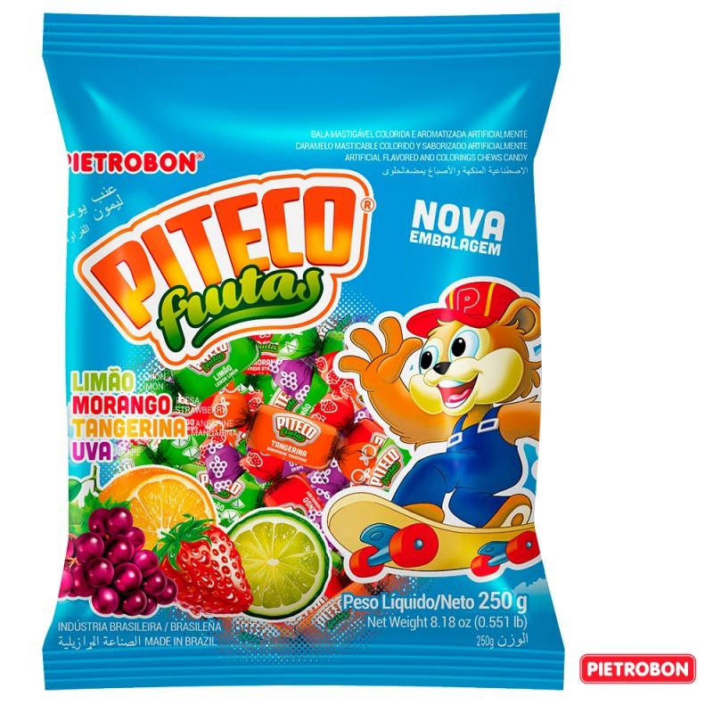 Bala •Piteco Frutas • Sortidas • 600g •Pietrobon